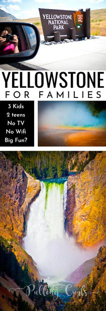 You might be considering a Yellowstone trip this year -- can a family survivie with teens and no wifi (and no TV).  You'll see animals, geysers, and more -- and you'll survive with TONS of memories (but be prepared for some grumpy teen-ness -- which is probably no surprise). via @pullingcurls