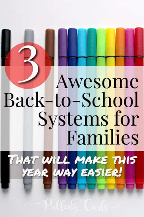 Back to school ideas to help organization in families. DIY your family life to make it smoother!