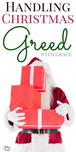 greed at Christmas