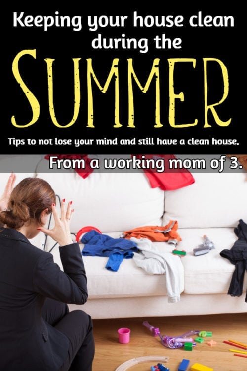 Keeping a clean home with kids
