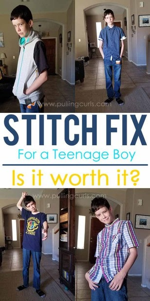 Fashion for teenage boys can be hard. Will a teenage boy stitch fix subscription help? This review of a 14 year old boy, size 14 will tell the tale. via @pullingcurls