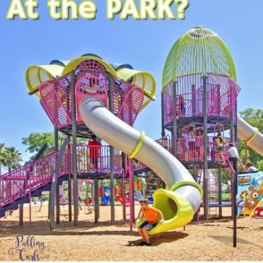 kids playing at the playground