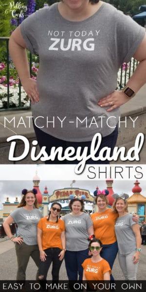 creating matching Disneyland shirts