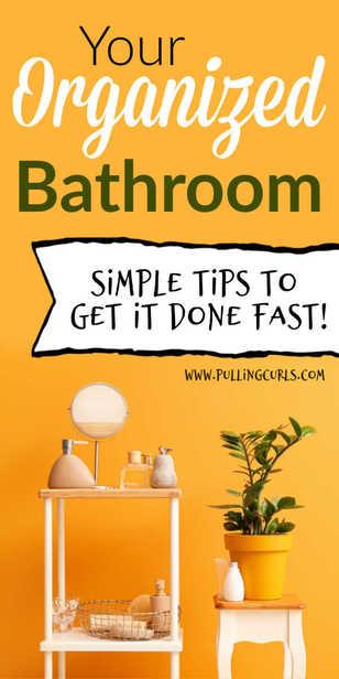 How to organize your bathroom via @pullingcurls