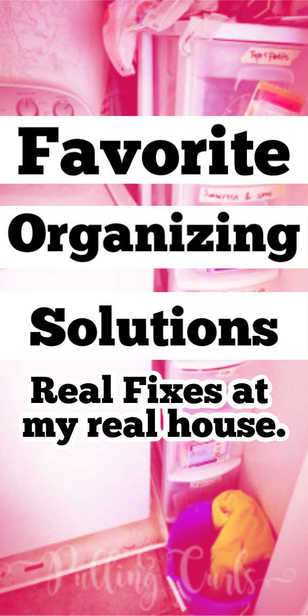 Real organizing at real houses that WORK via @pullingcurls