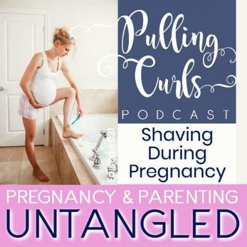 pregnant woman shaving