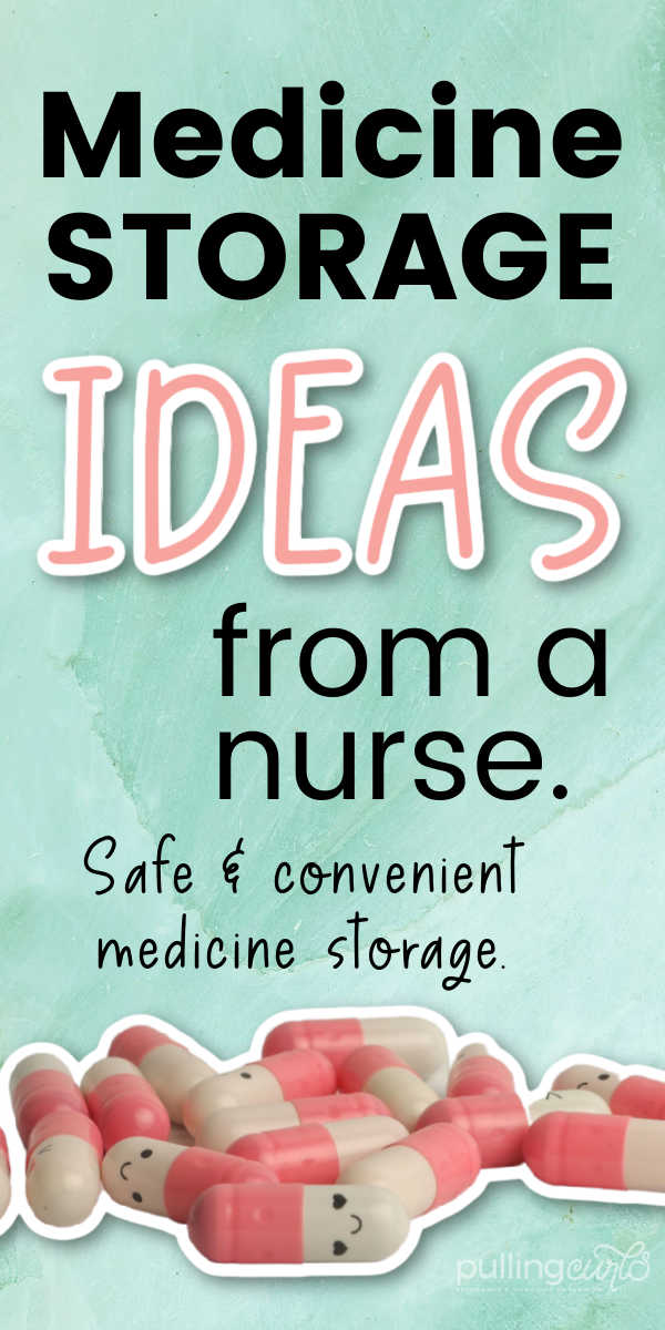 Medicine storage can be tricky. Whether you have a full sized medicine cabinet, or sometimes just some wall/linen closet storage you can use -- you can easily DIY this common trouble area into an easy way to get what you need, even if you don't have a medicine cabinet! via @pullingcurls