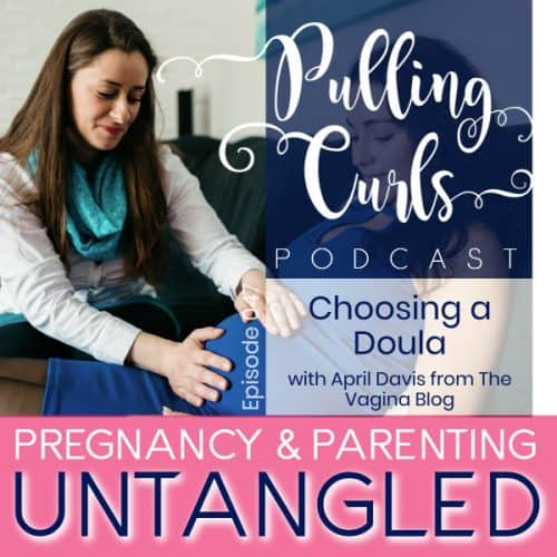 pregnant woman and doula