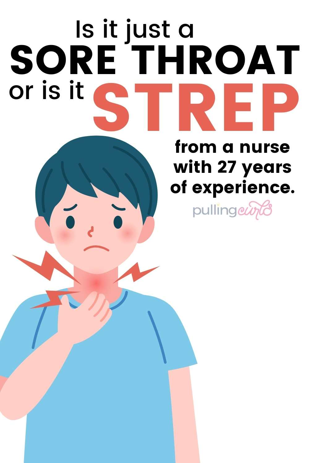Let's talk abut Strep Throat symptoms, how to tell if you have strep vs a sore throat. If essential oils can be helpful? Also, what to do if you have strep throat when pregnant. How LONG is strep throat contagious, can you be a carrier? Did you know that strep throat has different symptoms in children and that it can ONLY be teated by antibiotics? Yup, lots to learn about strep throat from this RN -- so let's get going! via @pullingcurls