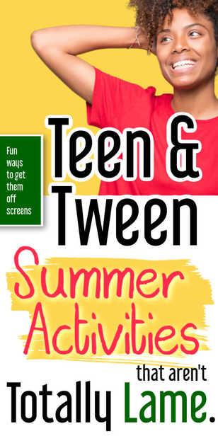 Fun Activities for Teens & Tweens in Summer via @pullingcurls