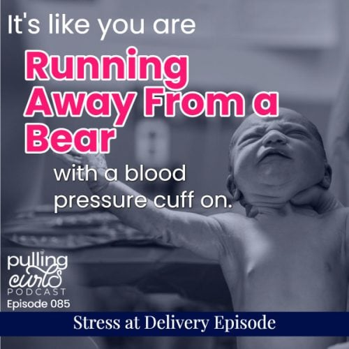 It's like you are running away from a bear with a blood pressure cuff on.