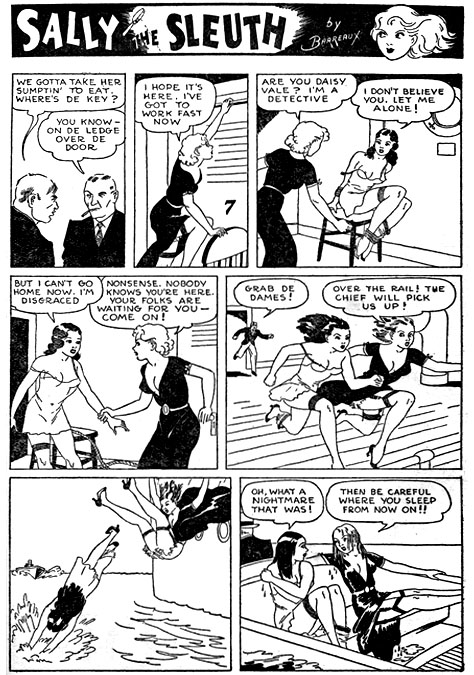 Noir Comics Sally the Sleuth Adolphe Barreaux