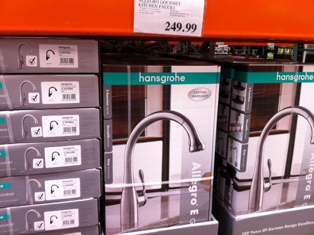 on a whim i made a quick visit to the iwilei costco and what did i see in plentiful stock is the hansgrohe allegro e gourmet kitchen faucet