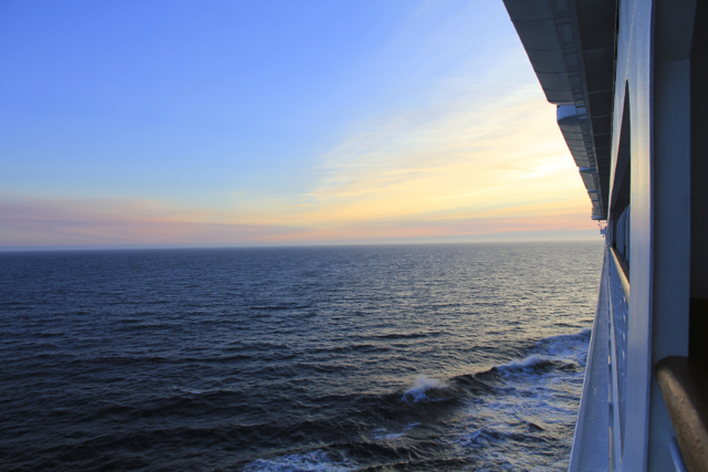 Alaskan sunset while cruising