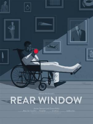 """REAR WINDOW"" Poster Artist: Stephen Schmitz"