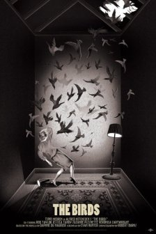 """THE BIRDS"" Poster Artist: Adam Simpson"