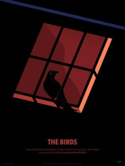 """THE BIRDS"" Poster Artist: Thomas Danthony"