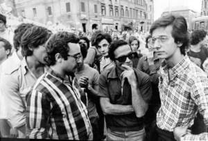 Pier Paolo PAsolini e Walter Veltroni