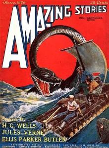 PULP MAGAZINE COVER AMAZING STORIES JUNE 1926