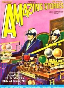 PULP MAGAZINE COVER - AMAZING STORIES, DECEMBER 1927