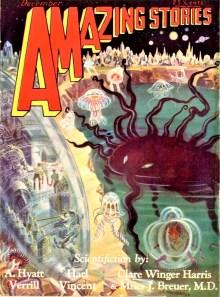 PULP MAGAZINE COVER, AMAZING STORIES DECEMBER 1929