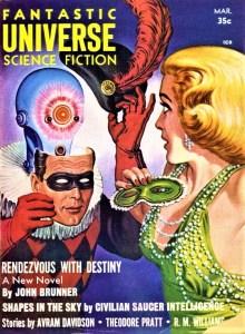 PULP MAGAZINE COVER - FANTASTIC UNIVERSE, MARCH 1958