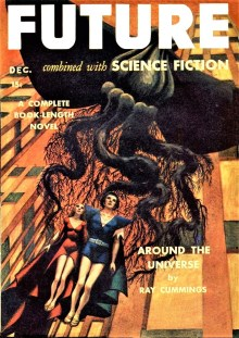 PULP MAGAZINE COVER - FUTURE COMBINED WITH SCIENCE FICTION, DECEMBER 1941