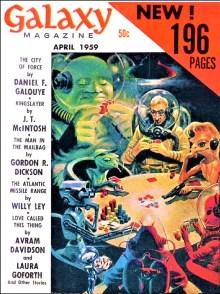 PULP MAGAZINE COVER - GALAXY, APRIL 1959