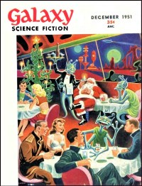 PULP MAGAZINE COVER - GALAXY, DECEMBER 1951