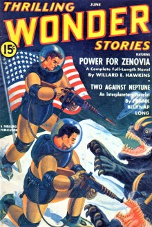 PULP MAGAZINE COVER - THRILLING WONDER STORIES, JUNE 1941