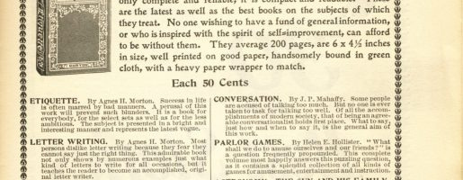 A Book For Christmas The Best Gift An Advise From 1899