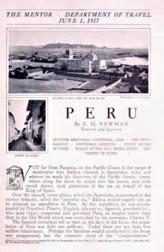 PERU - June 1, 1917