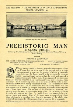 THE MENTOR - PREHISTORIC MAN - March 1, 1920