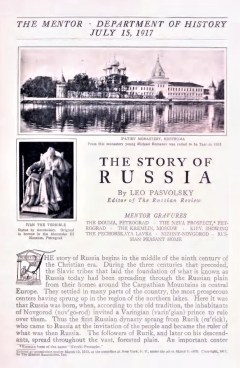 THE MENTOR - THE STORY OF RUSSIA - July 15, 1917