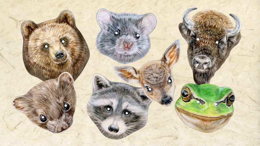 Maski zwierząt dla dzieci