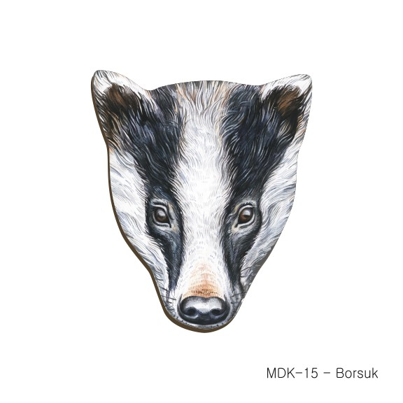 MDK-15 - Borsuk (magnesy drewniane ksztalty)
