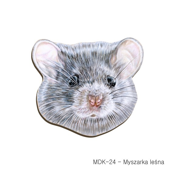 MDK-24 - Myszarka lesna (magnesy drewniane ksztalty)