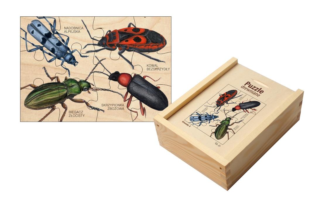 Puzzle drewniane - Owady 2