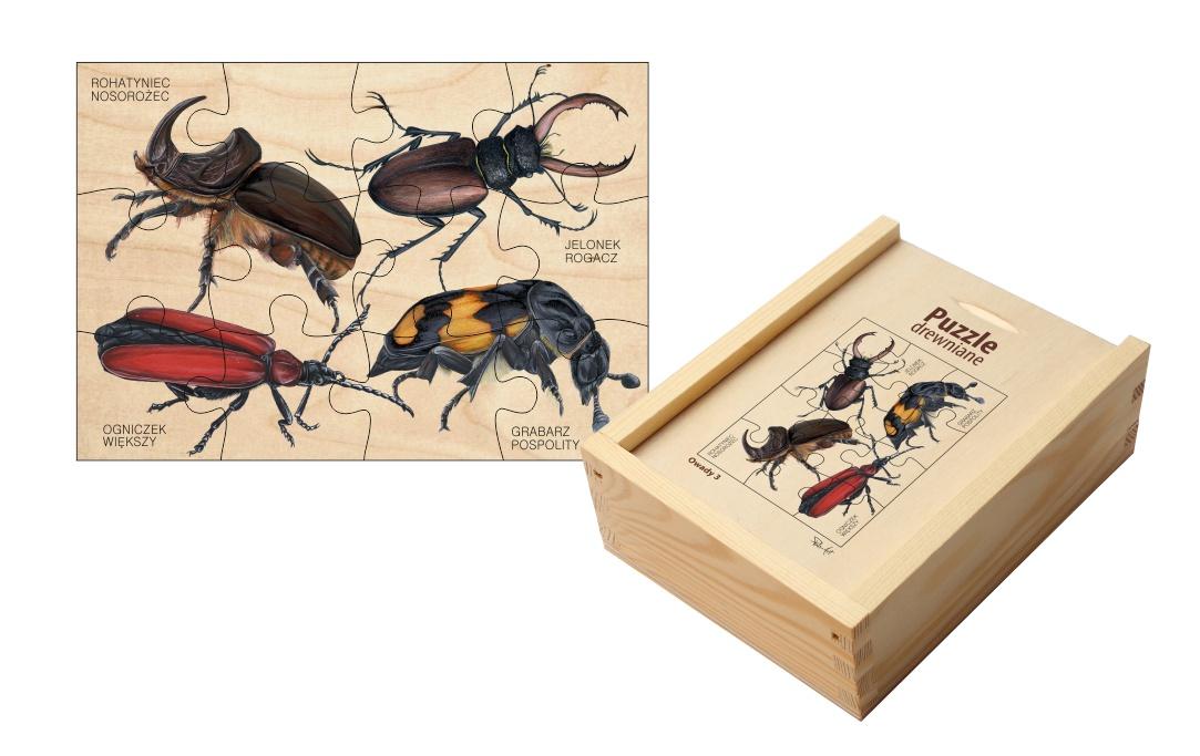 Puzzle drewniane - Owady 3