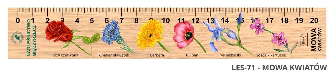 LES-71 - Mowa Kwiatow (linijka drewniana)