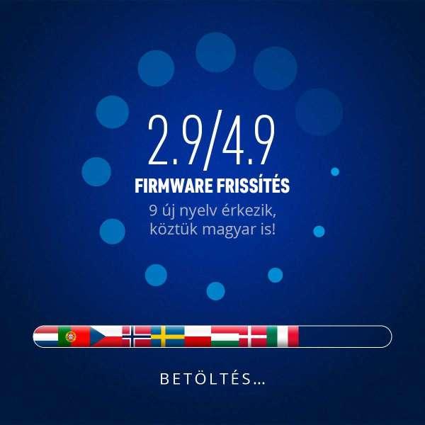 2.9/4.9 magyar nyelvű firmware update