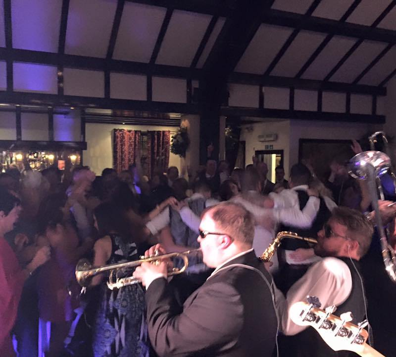 Pulse Wedding Band Ayrshire Live Brass Section Packed Dance Floor Brig O Doon 10