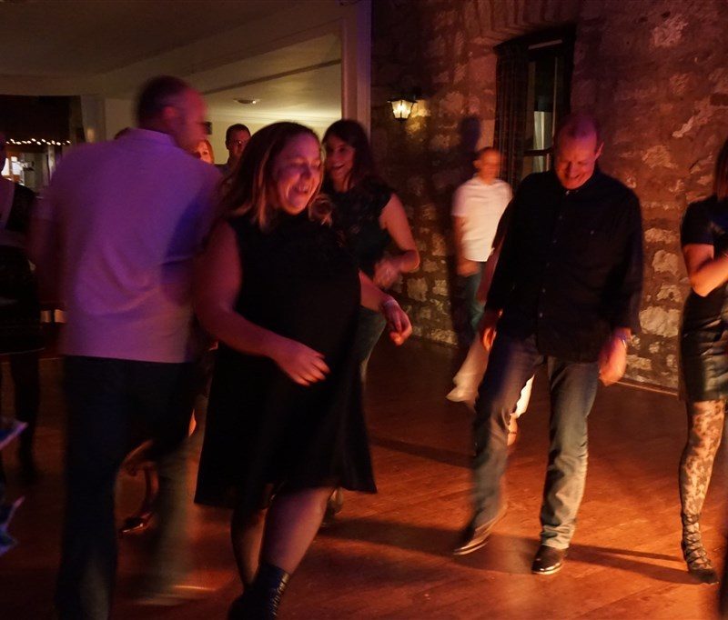 Pulse wedding band in Culcreuch Castle Fintry near Glasgow people dancing on busy dance floor