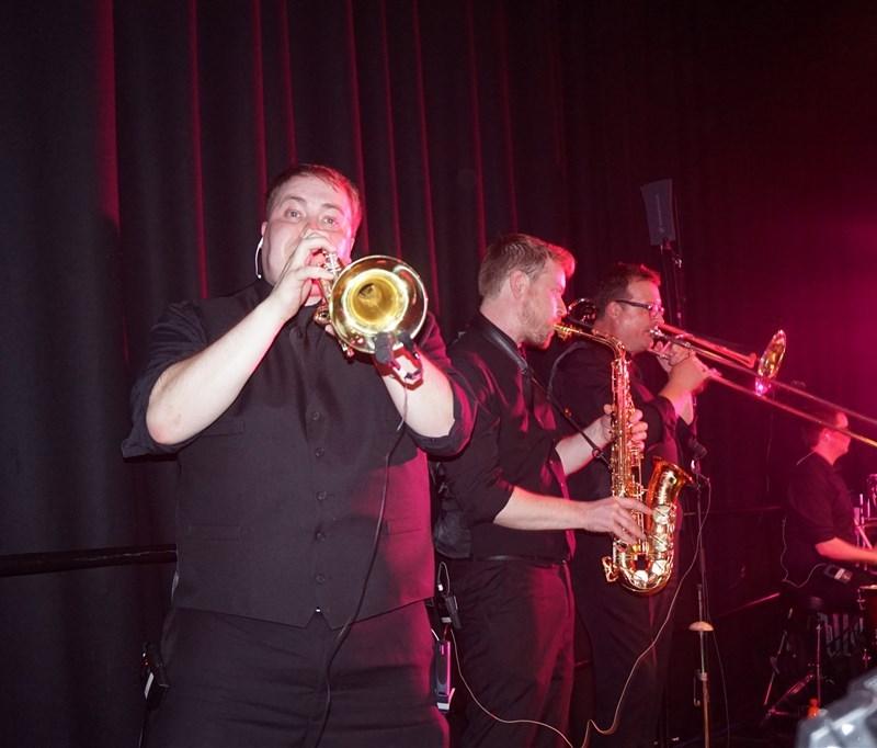 Pulse wedding bands Glasgow & Ayrshire brass section at Rutherglen Town Hall Glasgow near Glasgow
