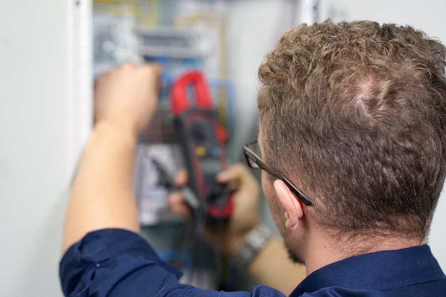 A Pulse electrician conducting-and-electrical inspection Brisbane