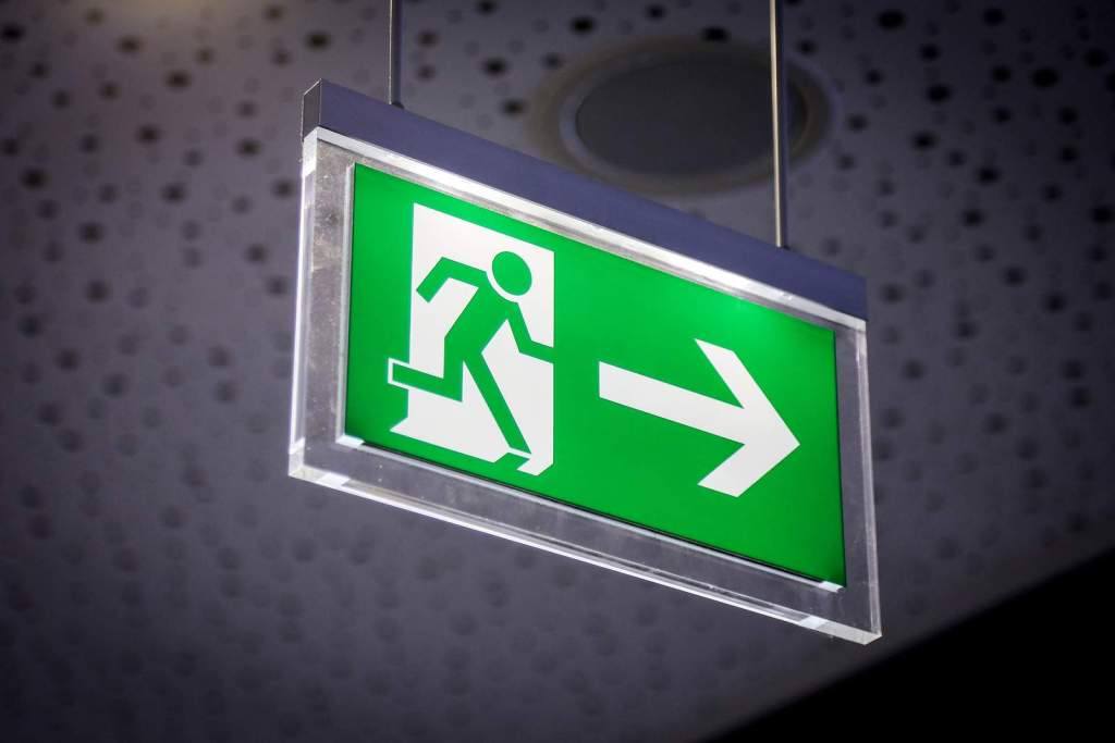 Pulse Electrical Inspecting an Exit light in Brisbane