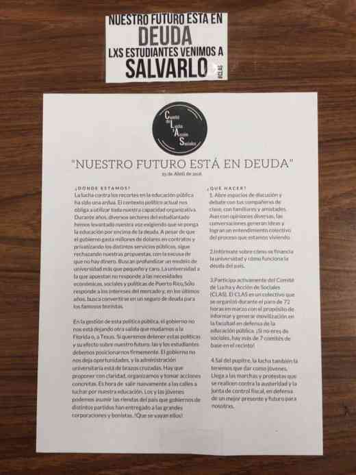 (Boletín CLAS que se pegó por los salones/Juan Collazo Vázquez)
