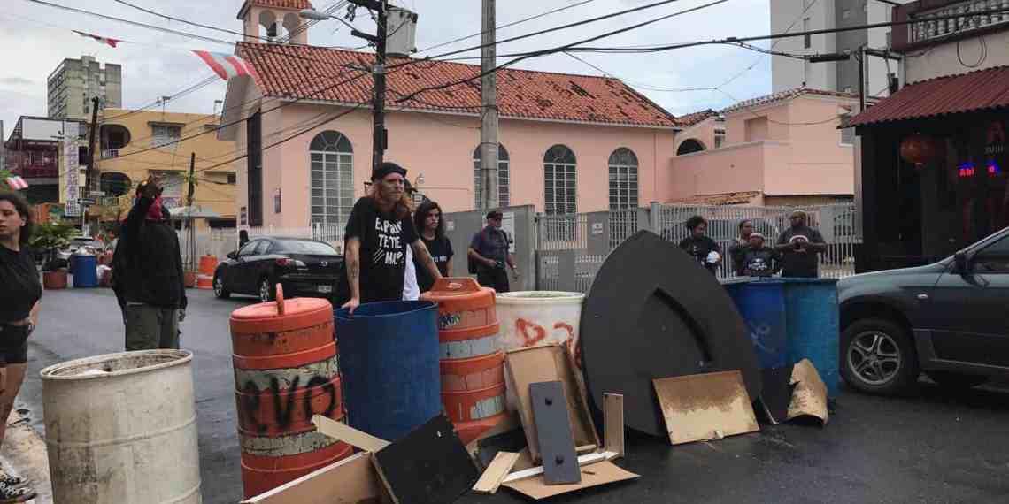Policías cerca de inmediaciones de UPRRP luego de Paro Nacional