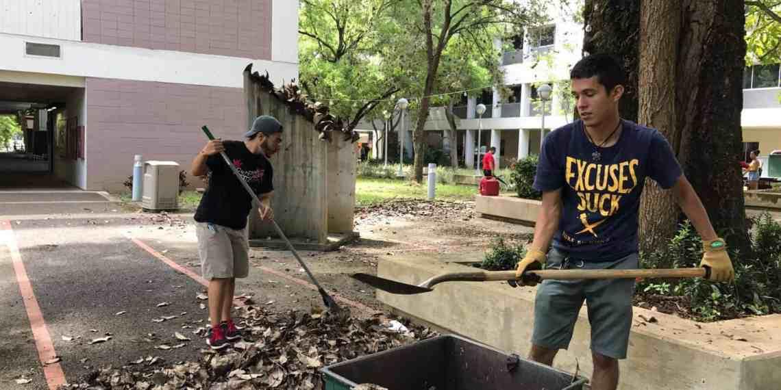 Estudiantes de Ciencias Naturales participan de limpieza de facultad