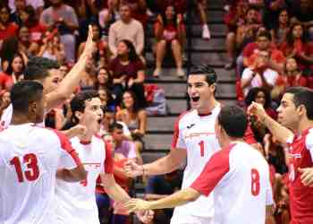 Gallitos ganan primer juego de la final del voleibol